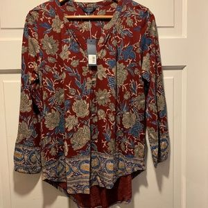 NWT~ Lucky Brand~ floral print top